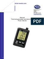 Thermo Hygrometer PCE THB-40 ( Manual Pce Thb 40 ) 082217294199