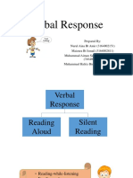 verbal response