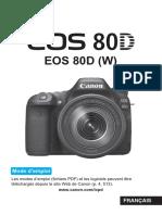 EOS 80D Instruction Manual FR
