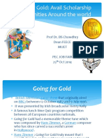 Going for Gold 25 Oct 2014