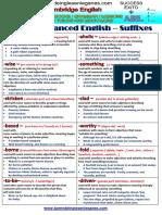 CPE- Advanced English – Suffixes