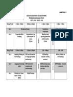 Jadual Pelaksanaan Kursus Cefr Kohort 2 2016