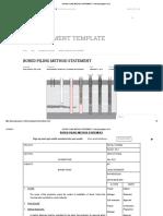 Bored Piling Method Statement – Planning Engineer Est