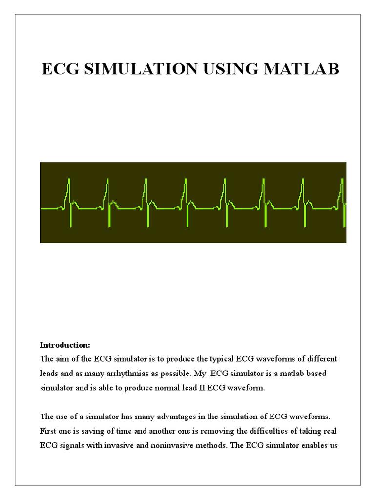 Ecg | Electrocardiography | Mathematical Analysis