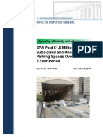 EPA IG Report on Subsidized Parking Spaces