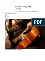 Musical Instruments Arranged by Classification System
