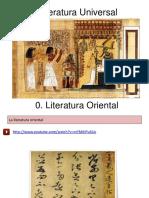 Literaturas orientales