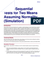 Group-Sequential Tests for Two Means Assuming Normality (Simulation)