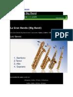 Instrumentación Para Bandas de Música