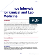 Reference Intervals for Clinical and Lab Medicine