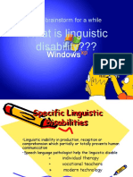 Linguistic Disabiliities