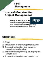 CEE 498 Construction Project Management
