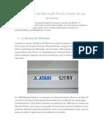 La Evolución de Microsoft Word a Través de Sus Versiones