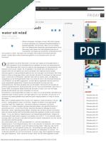 Friese Rainmaker Haalt Water Uit Wind - Parbode Surinaams Opinie Maandblad