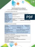 Guia de Actividades y Rubrica de Evaluación - Fase 5 Estudio de Caso.