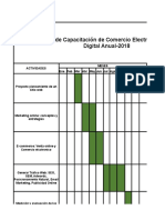 Cronograma de Capacitacion Ecommerce