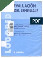 Miguel Puyuelo. Evaluacion Del Lenguaje
