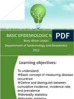 Basic Epidemiologic Measure and Vital Statistics 031512