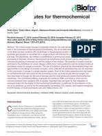 Biorefinerías termoquímicas