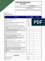 Interview Assessment - SAMPLE