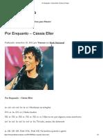 Por Enquanto – Cássia Eller _ Cifras de Flauta