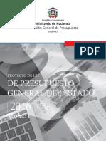 Proyecto de Ley de Presupuesto General Del Estado 2016 - ToMO I