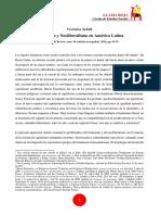 Feminismo y Neoliberalismo en América Latina