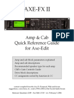 Amp & Cab Quick Reference