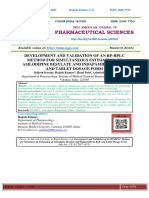 DEVELOPMENT AND VALIDATION OF AN RP-HPLC METHOD FOR SIMULTANEOUS ESTIMATION OF AMLODIPINE BESYLATE AND INDAPAMIDE IN BULK AND TABLET DOSAGE FORM