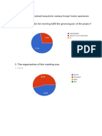 evaluation of the 3rd learningteachingtraining activity  meeting in portugal- teachers questionnaire