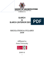 B.arch Regulation & Syllabus