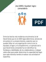David Sirota (2005)- Equidad- Logro-camaradería