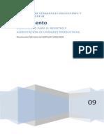 Reglamento Para El Registro y Acreditacion de Unidades Productivas en Bolivia
