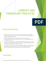 Fraudulent and Corrupt Practices