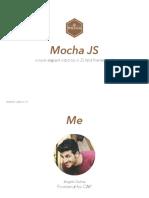 Mocha JS Testing Framework