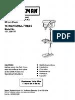 Craftsman Drill Press User Manual.pdf