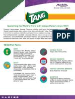 Tang Fact Sheet