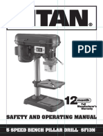 Titan Pillar Drill SF13N Manual