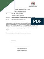 Informe 03 Tingo Maria Del 26 de Octubre Al 02 de Noviembre Del 2016