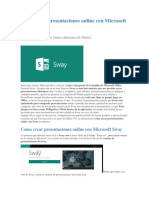 Como Crear Presentaciones Online Con Microsoft Sway