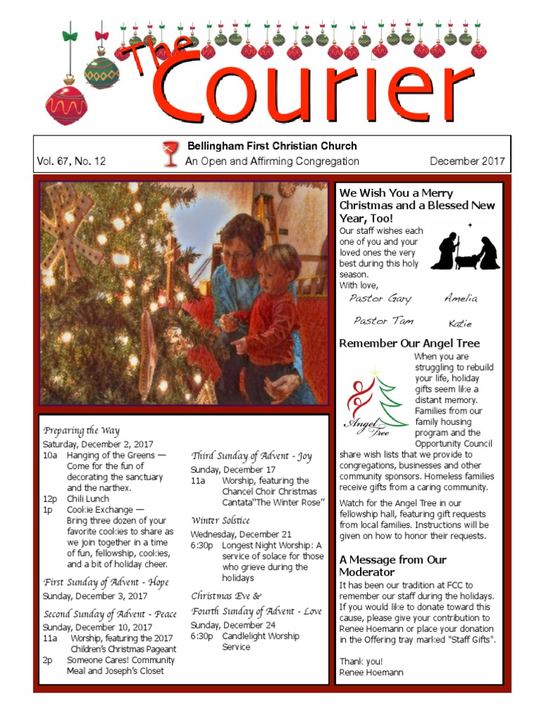 December 2017 Courier   Advent   Christian Church (Disciples Of Christ)