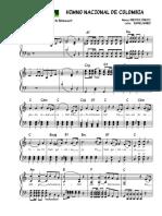 Himno Nacional de Colombia - Partitura Piano 2017
