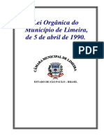 Lei Organica Do Municipio de Limeira