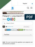 Palsgraf v. Long Island r. Co Casebriefs Part 2