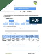 Ficha - Indicadores Demográficos