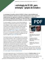 WikiLeaks - La estrategia de EE.UU. para Sudamérica contempla golpes de Estado o magnicidios.pdf