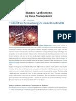 Artificial Intelligence Applications Revolutionizing Data Management