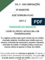 Cessão de Crédito e Assunção de Dívida (2)