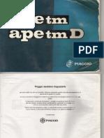 APE TM 703 703D Uso e Manutenzione
