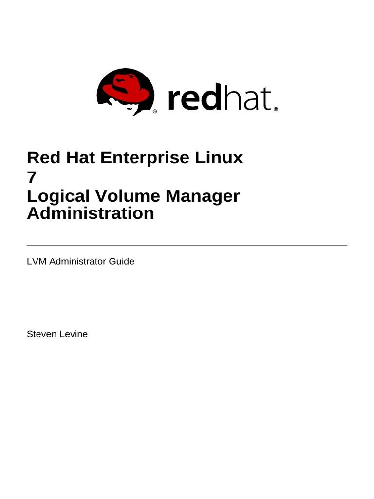 Red Hat Enterprise Linux-7-Logical Volume Manager Administration-En